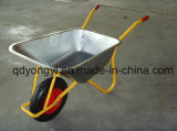 Heavy Duty Wheelbarrow with Galvanized Tray for Ghana Market and Europe Wb6404h