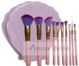 10 Psc Professional Colorful Makeup Brushes Set with Shell Bag, Best Promotional Gifts for Woman