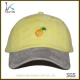 Embroidery 6 Panel Dad Hat Women Suede Baseball Cap