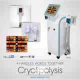 4 Handles Work Together Cryolipolysis Freezing Slimming Machine