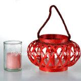Customized Elegant Round Lanterns Wedding Wood Lantern in Red Color