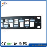 CAT6A FTP Patch Panel Empty 1u 19′′ 24 Ports Without RJ45 Krone Jackets, Steel Panel