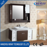 Wall Mounted Modern Ceramic Basin Hot Sale Bathroom Cabinet PVC