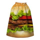 Summer3d Printed Floral Expansion High-Waist Full Skirt