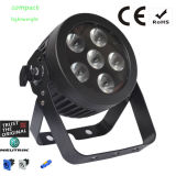 Compact Mini LED PAR Can with RGBWA UV 6in1 LEDs and Powercon