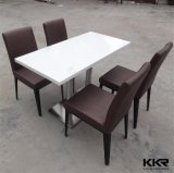 Home Furniture 4 Chairs Marble Top Coffee Table Set 0710