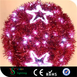 Red Christmas Motif LED Ball Lights for Street Decorations