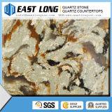Popular Artificial Quartz Color Factory Brown Stone Quartz Countertops