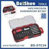 34-PC Combination Ratchet Screwdriver Handle Bit Set