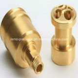 Precision Machined Connector Used Brass C11000 (LM-419)
