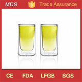 High Quality Clear 50ml Borosilicate Double Wall Shot Glass