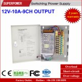 12V 10A 9CH Output CCTV Camera Switching Power Supply