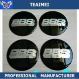 70mm Black ABS Chrome Design Car Sticker for Wheel Center Caps