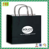 Black Art Paper Handbags with Your Logo for Packing