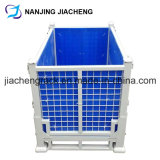 Foldable Storage Rigid Steel Welded Pallet Cage by Powder Coated