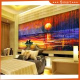 Go Boating at Twilight Time Scenery The Sunset and Beautiful Lake Model No: Hx-4-047