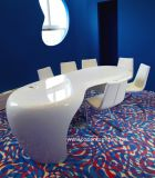 Clean Modern Corian Solid Surface Office Concept Conference Desk