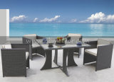 Rattan Wicker Patio Furniture Garden Dining Table Cube Set for Outdoor