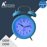 Analog Table Twin Bell Quartz Alarm Clock with LED Backlight