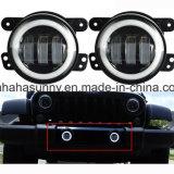 4 Inch 60W CREE LED Fog Lights Halo Ring Angel Eyes for Jeep Wrangler 97-16 Jk Tj Lj ATV