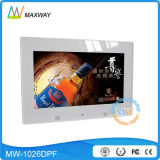 10 Inch Battery Charge Digital Photo Frame Blue Picture Video Download Photos
