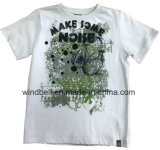 Peached White Cotton T-Shirt for Boy with Printing