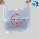 HDPE Clear Plastic Vest Bags with Custom Printing