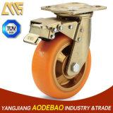 Heavy Duty Double Brake TPR Caster Wheel