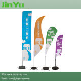 4.0m Height Teardrop Beach Flag Banner with Cross Base