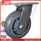 6X2 Thermoplastic Rubber on PP Gray TPR Wheel Swivel Caster