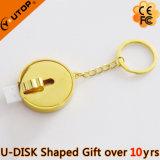 Elegant Jewelry Gift Golden Sliding USB Flash Stick (YT-RL)