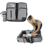 Polyester Baby Products Foldable Shoulder Diaper Bed Bag for Women/Men