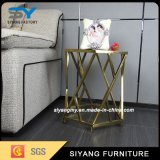American Style stainless Steel Glass Coffee Table End Table