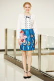 MID Waist Pencil Skirt with Flower and Butterfly Print