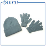 Wholesale Grey Knit Beanie and Glove Set