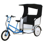 Steel Frame City Taxi Bike Electric Pedicab Tricycles for Tourist