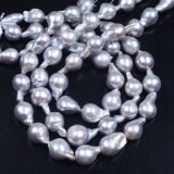Dyed Color Gray Baroque Pearl Strand