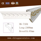 New Design Gold Outline 8.5cm Breadth PU Cornice Moulding for Ceiling Decor.