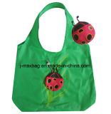 Foldable Shopping Bag with 3D Pouch, Animal Ladybird Style, Reusable, Lightweight, Grocery Bags and Handy, Gifts, Promotion, Accessories & Decoration