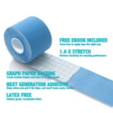 Muscle Fix Kinesiology Recovery Sports Athletic Injury Therapeutic Support Precut Strips Tape Roll