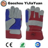 Reinforcement Palm Cow Split Leather Work Glove