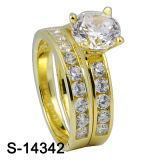 Latest Fashion 925 Sterling Silver Wedding Ring (S-14342)