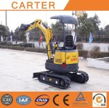 CT16-9dp with Retractable Chassis, Rubber Tracks Hydraulic Mini Digger