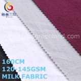 Polyester Spandex Knitted Milk Fabric for Garment Textile (GLLML492)