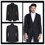 Customize Slim Fit Two Button Single Breasted Black Suit