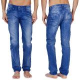 Wholesale Men′s Straight Casual Pants Blue Denim Jean Pants