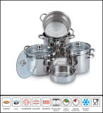 4PCS Pasta Pot Set Italy Pasta Cooker Set