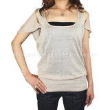 Women Fashion Knitted Round Neck Long Sleeve Sweater Clothes (11SS-036)