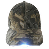 Real Tree Camouflage Military Baseball Hat with LED Lights