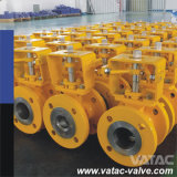 API 6D Pneumatic RF Flange V Port / Notch Segment Ball Valve
